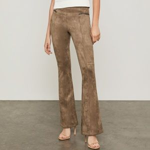 NEW BCBG MAX AZRIA Faux Suede Flared Pants XS